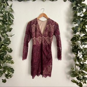 🎉50% Off🎉Charlotte Russe Lace Dress Burgundy